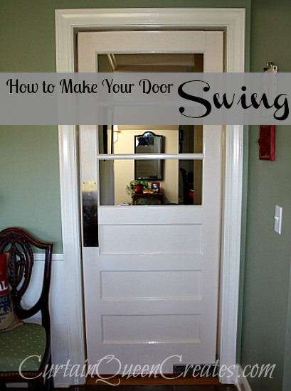 how to make a door swing - Curtain Queen Creates