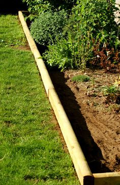 Using wood timbers for landscaping edges featured on Remodelahlic.com