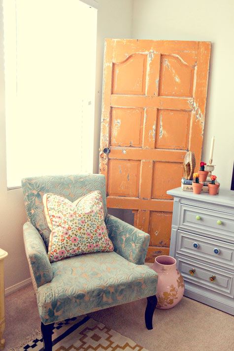DIY Wall Decor for Large Walls: old door