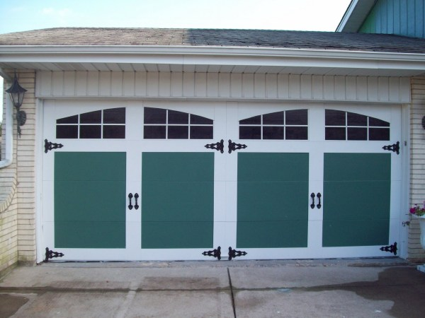 painted and raised panel garage door facelift - General Splendour
