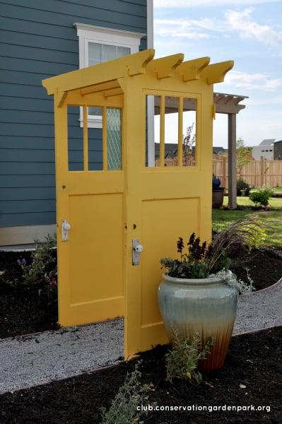recycled-door-arbor-conservation-garden-park