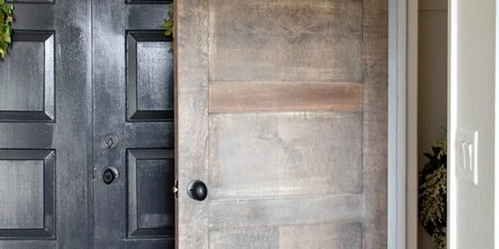 5 Panel Door from a Flat Hollow Core Door