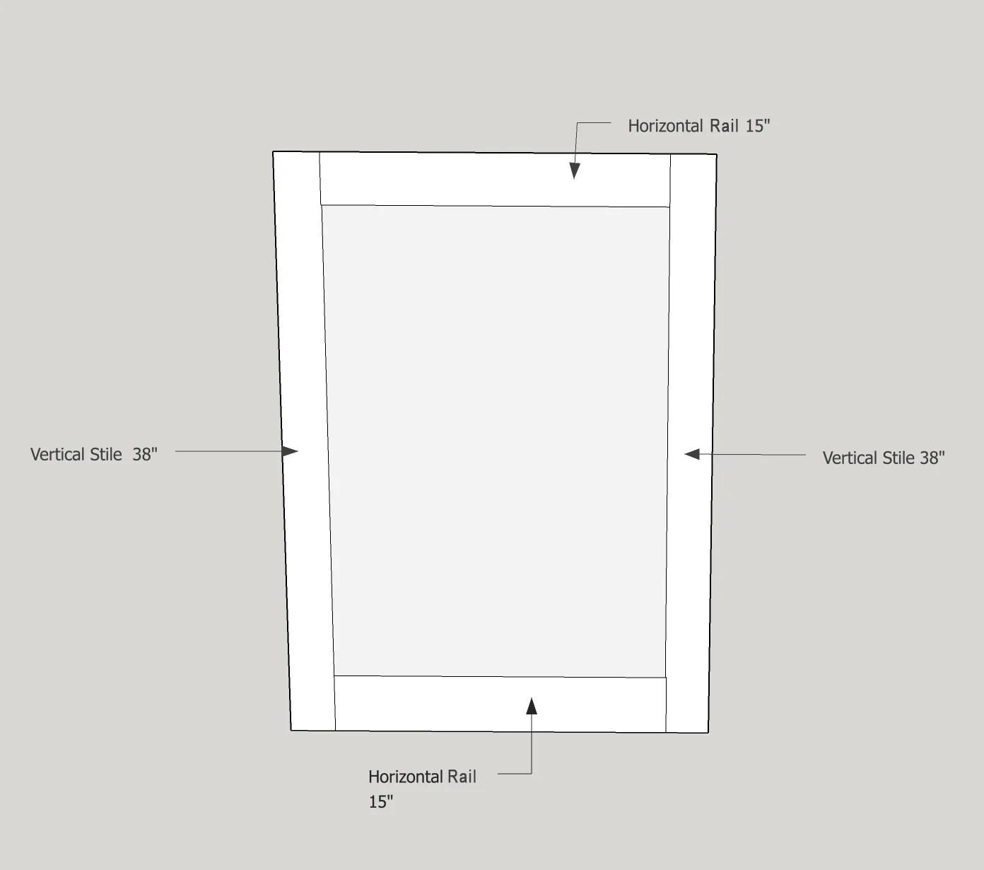 stiles1  sc 1 st  Remodelaholic & Remodelaholic | How To Make A Shaker Cabinet Door