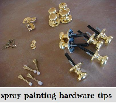 tips for spray painting hardware - Magenta and Lime