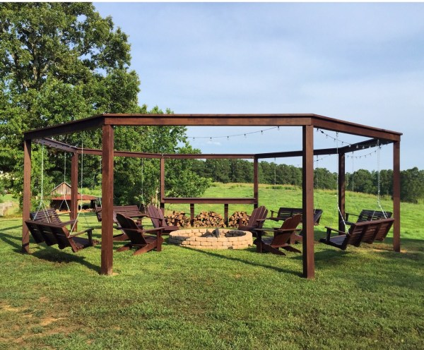Best Outdoor Project Plans for Summer: Fire Pit Swingset Pergola DIY Tutorial