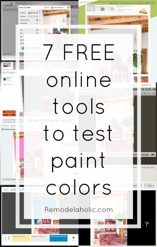 7 free online tools to test paint color before you buy @Remodelaholic