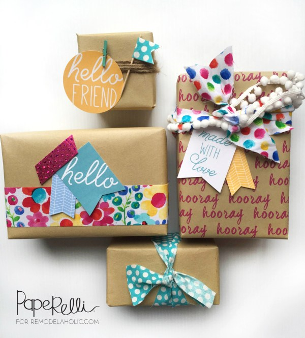 Easy gift wrapping ideas with free printable gift tags