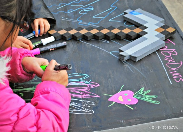 Creating a Building Block Playtable with Chalkboard Top by ToolBox Divas for Remodelaholic