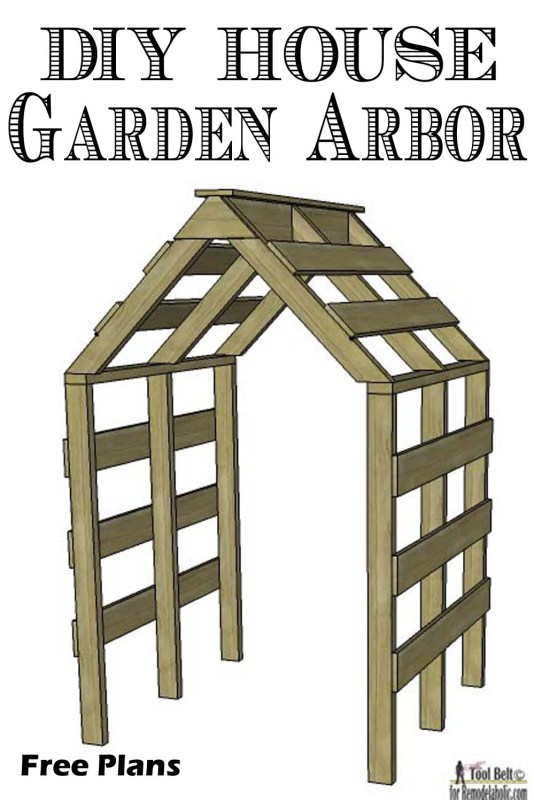 DIY House Garden Arbor-free plans