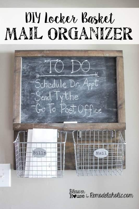 DIY Locker Basket Mail Organizer