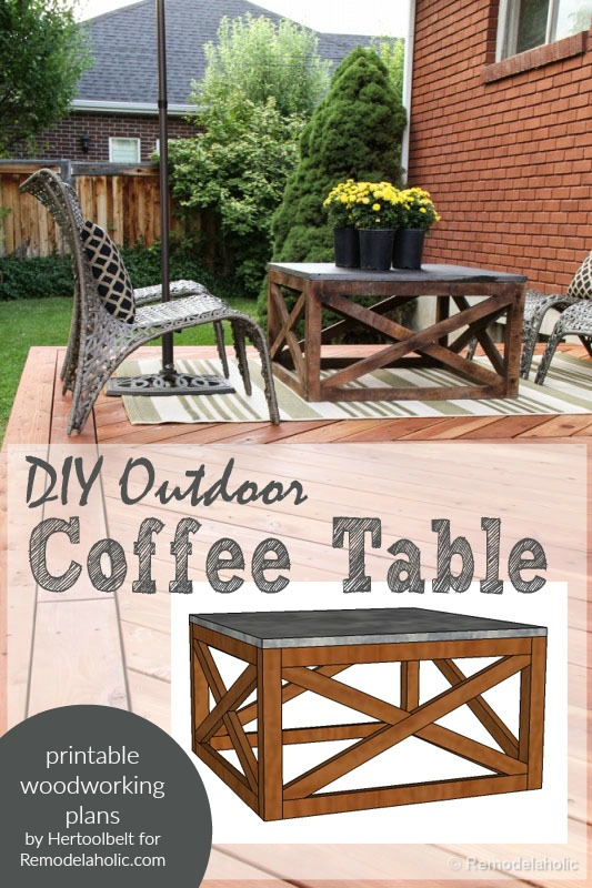 DIY Outdoor Coffee Table With X Base, Woodworking Plans