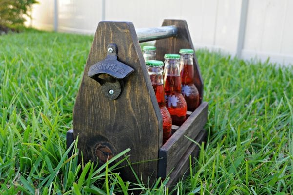 build a simple wooden caddy for drinks flowers or gifts tutorial