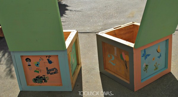How to Create Building Block Seats with Storage by ToolBox Divas for Remodelaholic