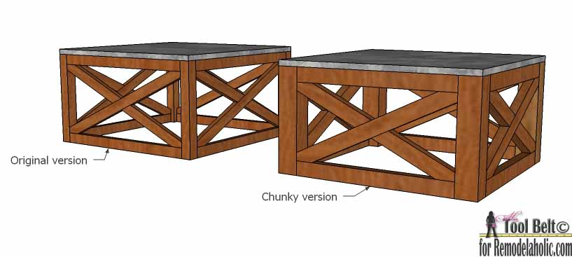 How To Build An Outdoor Coffee Table With X Base