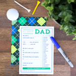 Father's Day Fill in the Blank Cards
