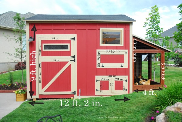 Storage Shed with Chicken Coop Tutorial by Chalkboardblue featured on Remodelaholic