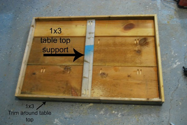 Tabletop Suppor for DIY Playtable  by ToolBox Divas for Remodelaholic