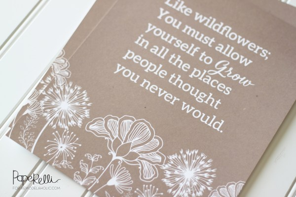 Free Printable Wildflower Print by Paperelli for Remodelaholic