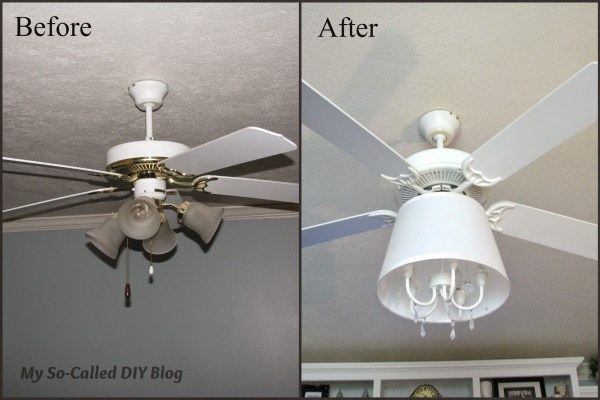 ceiling fan into chandelier - My So Called DIY Blog