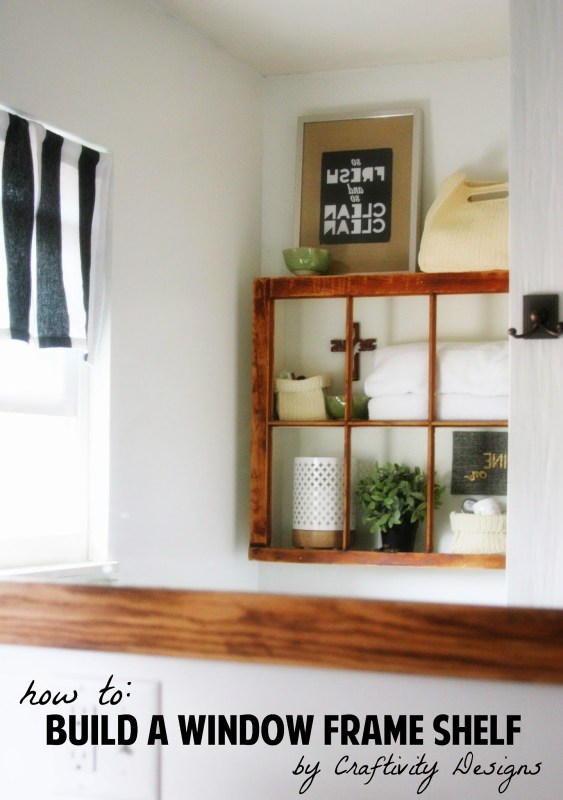 old window into shelf - Craftivigy Designs