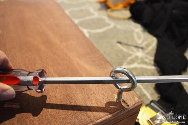 Installing a DIY indoor swing for kids