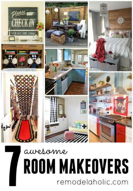 7 Awesome Room Makeovers @Remodelaholic