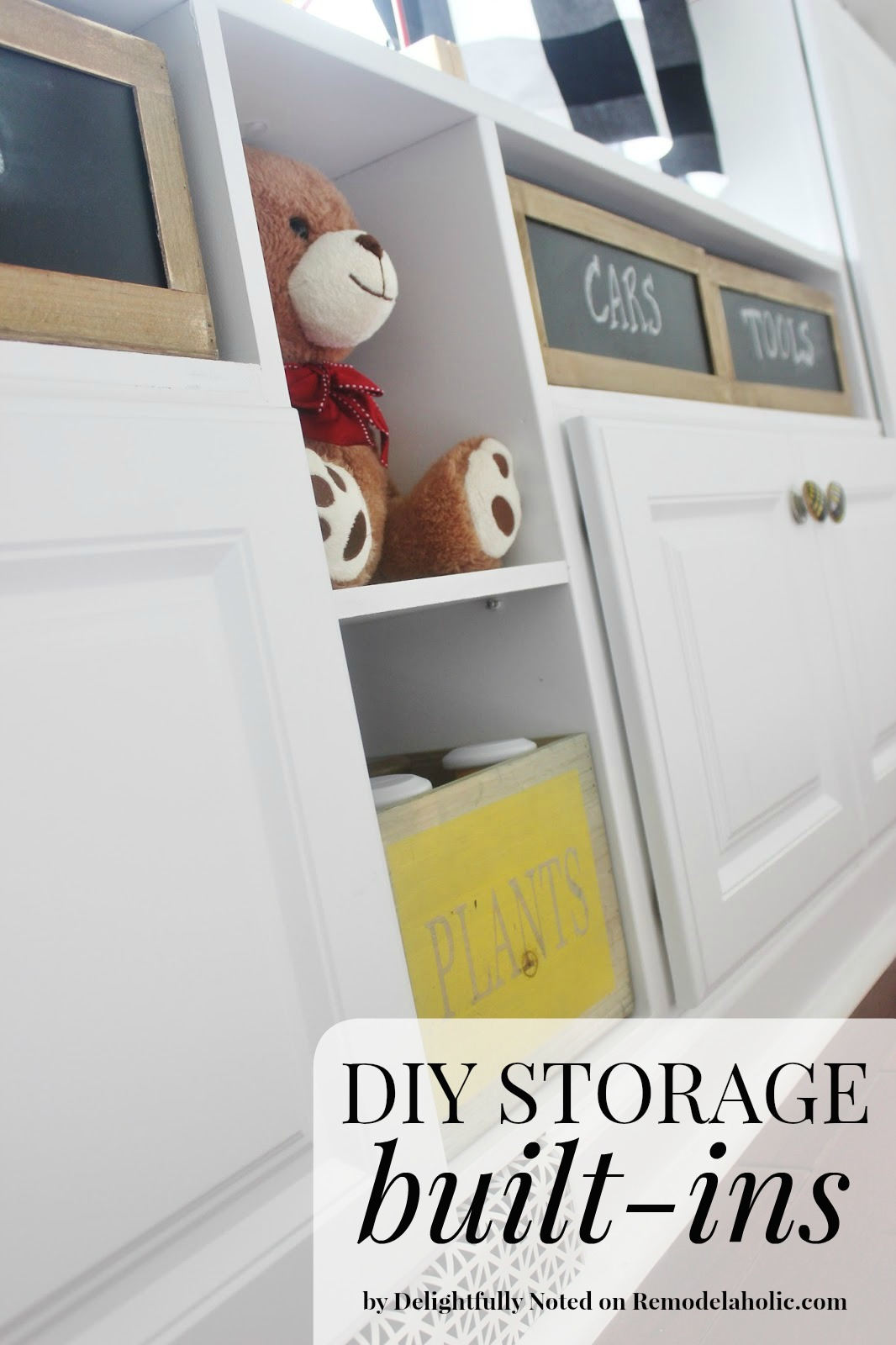 DIY Storage Built Ins   How To Use Cabinets To Create Your Own Built In