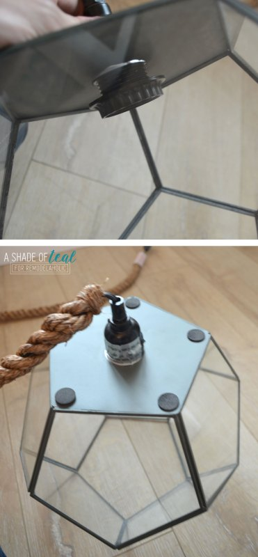 DIY Terrarium Light by A Shade of Teal featured on Remodelaholic