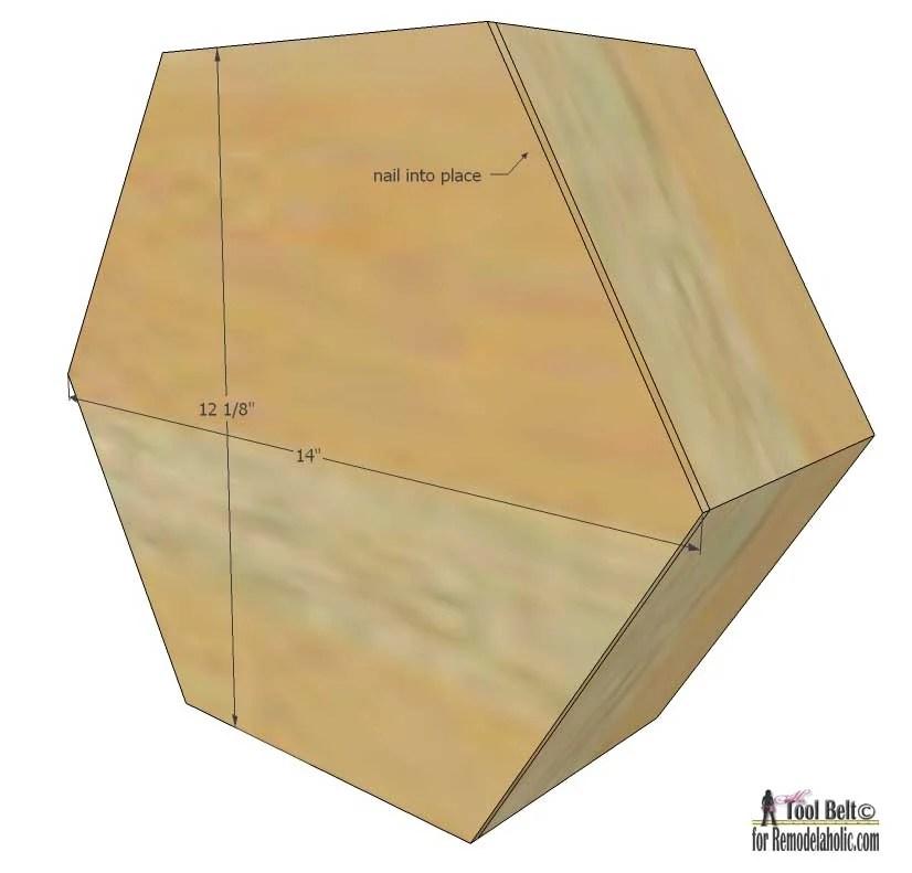 Remodelaholic | DIY Geometric Display Shelves