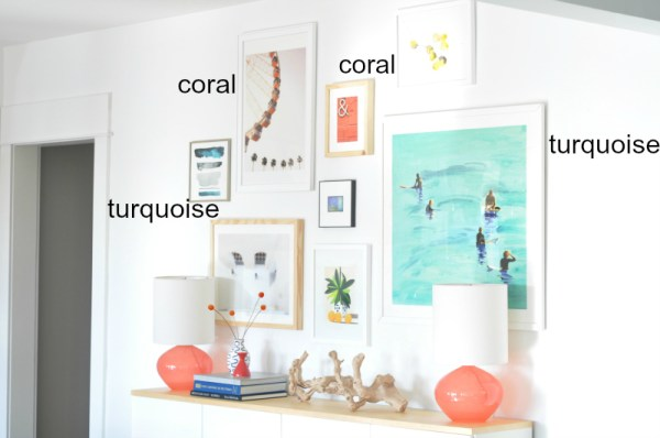 How to Choose a Color Palette for a Gallery Wall by House Updated featured on Remodelaholic