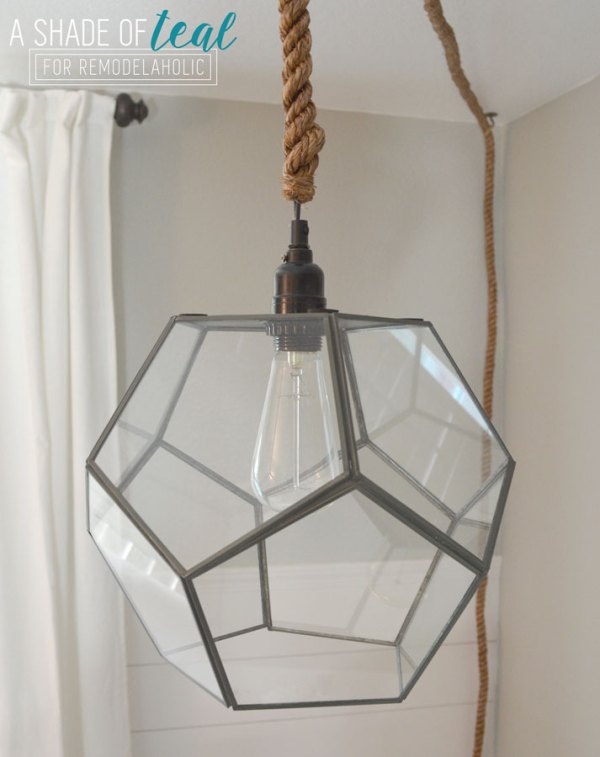 DIY geometric light fixture (no electrical work needed)