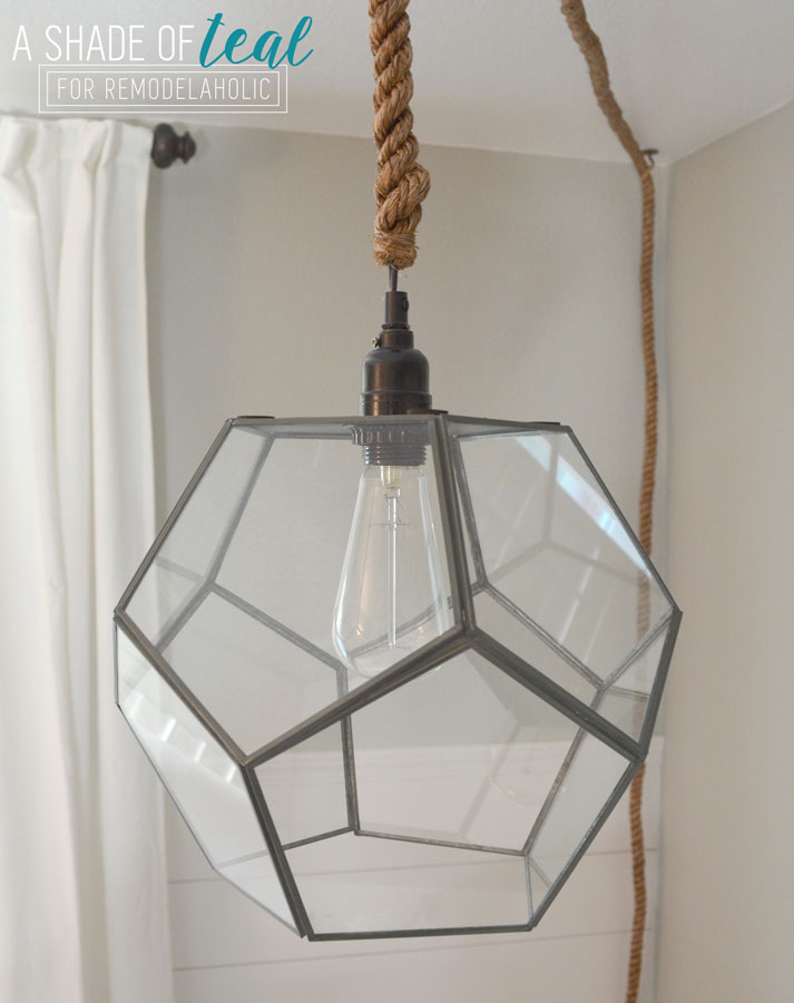DIY Geometric Light Fixture No Electrical Work Needed