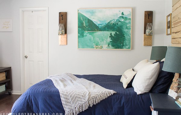 Large Scale Wall Art by Upcycled Treasures for Remodelaholic