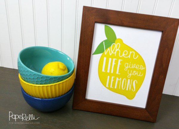 Lemon Art Printables by Paperelli @Remodelaholic