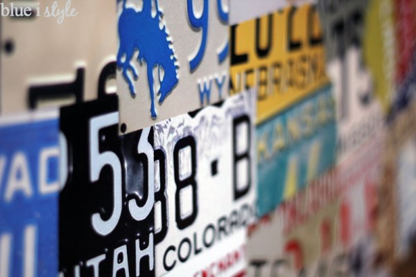 License Plate Map for Wall Art by by Blue i Style featured on Remodelaholic