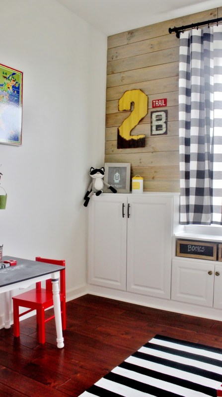 Playroom Remodel with Built-In Storage Cabinets by Delightfully Noted featured on Remodelaholic