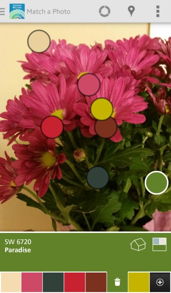 Sherwin-Williams Color Snap - Free Android App to Pick a Paint Color from a Photo @Remodelaholic