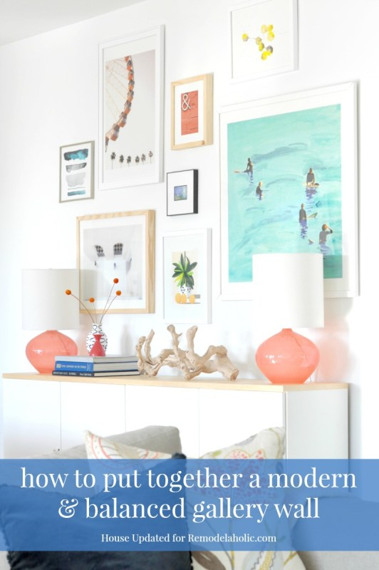 Tips for creating a modern, balanced gallery wall that isn't boring!