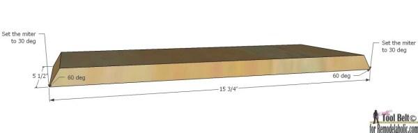 Triangle shelf - side
