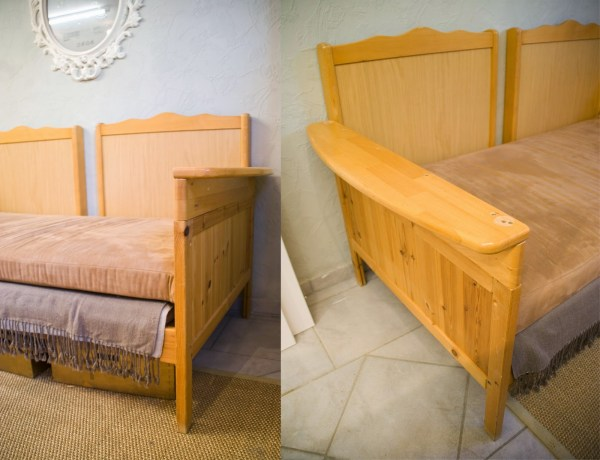 Use an old crib by turning it into a sofa by Pudel-design featured on Remodelaholic