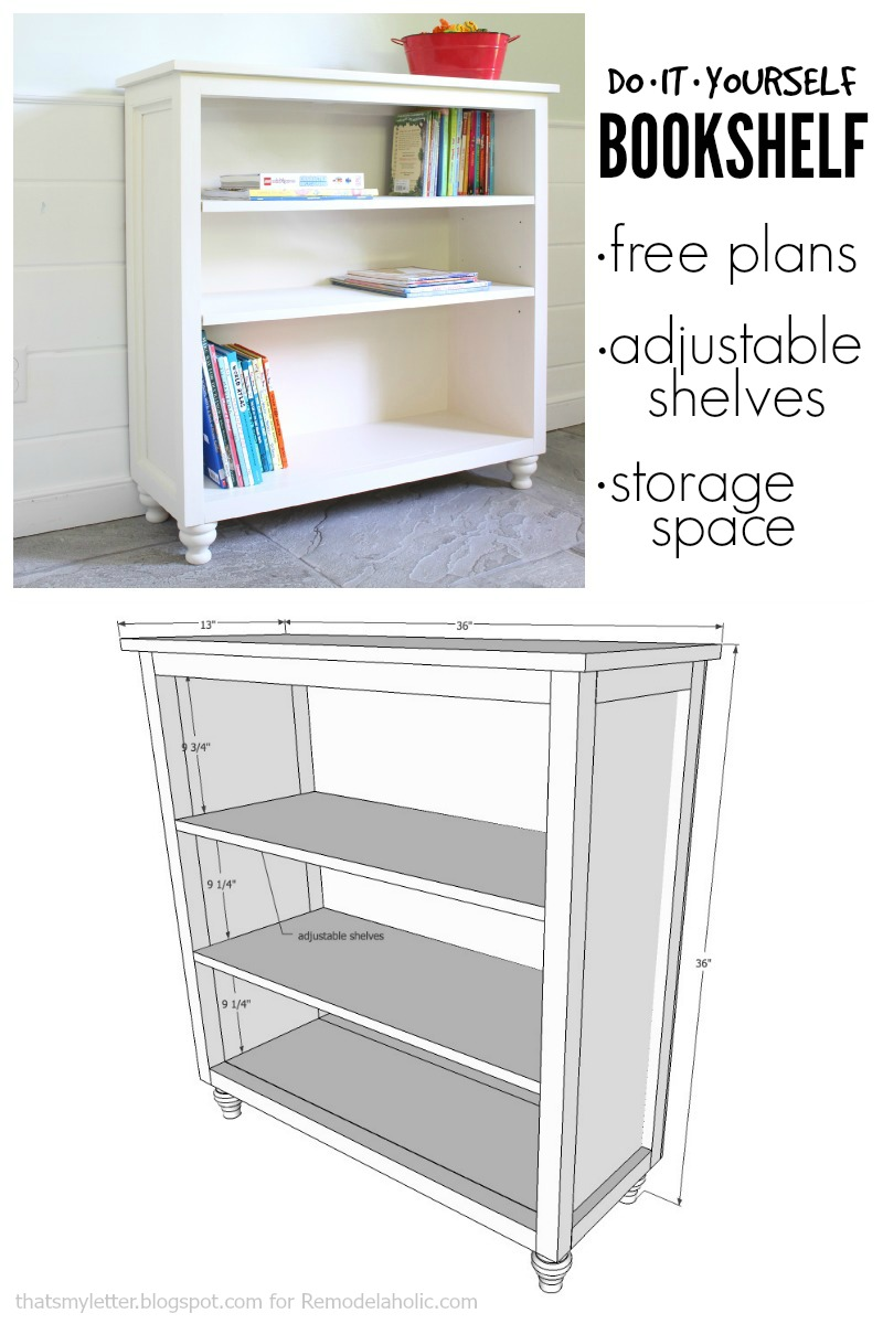Remodelaholic build a bookshelf with adjustable shelves build a bookshelf with adjustable shelves using this easy to follow building plan and solutioingenieria Images