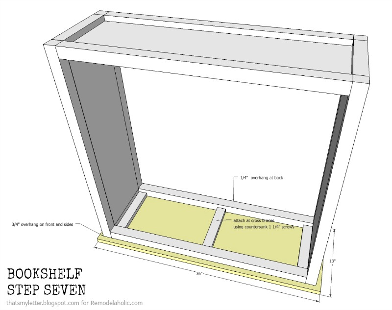 how to build a bookshelf with adjustable shelves, step seven
