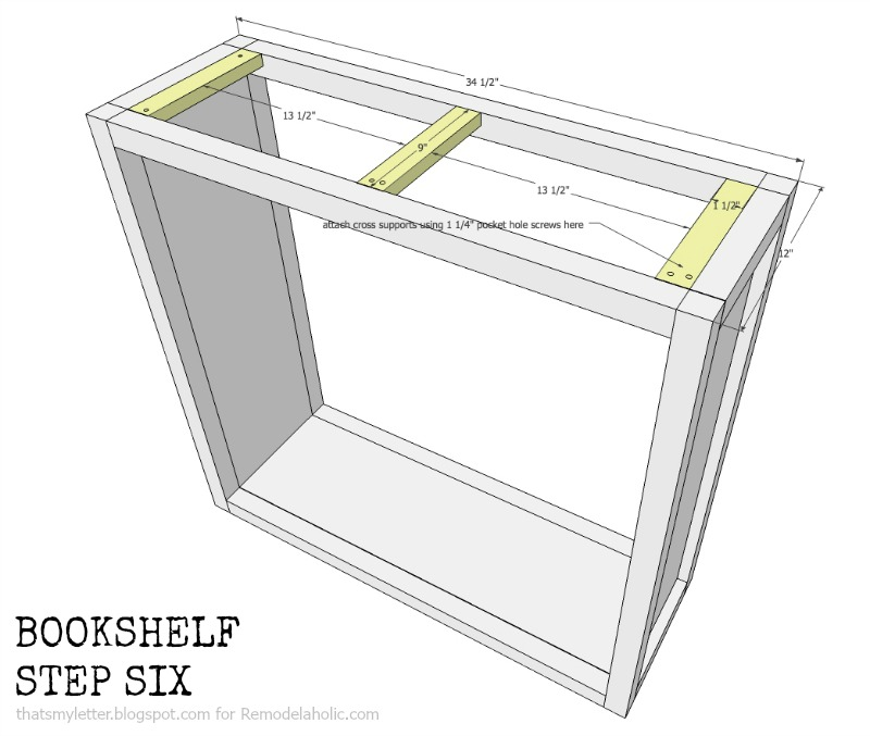 how to build a bookshelf with adjustable shelves, step six