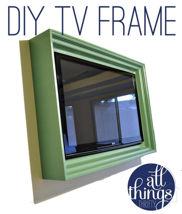 build a TV frame (All Things Thrifty)