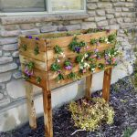 cascading pallet planter flowers
