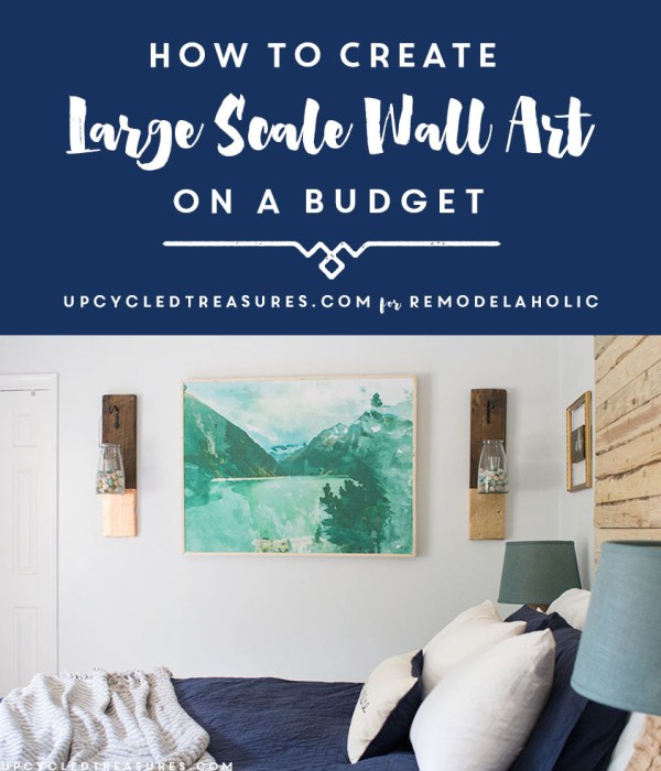 Large DIY Wall Art On a Budget -- this is so easy to do yourself!