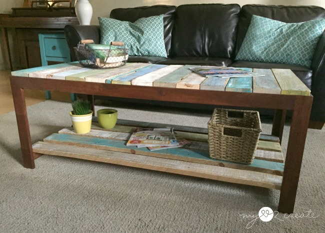 glass top coffee table into pallet top table