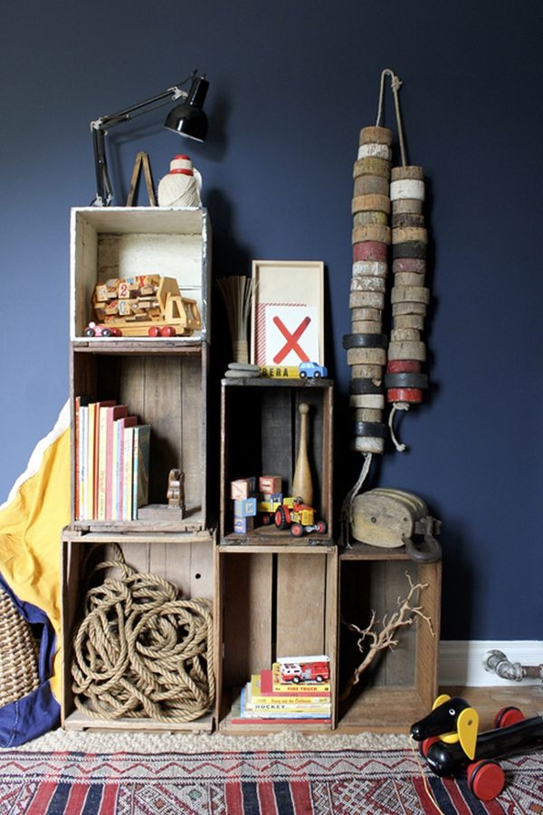 Nautical boys room inspiration | Found on inspiredbythis.com