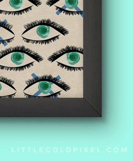peek kaleidoscope eyes modern art print