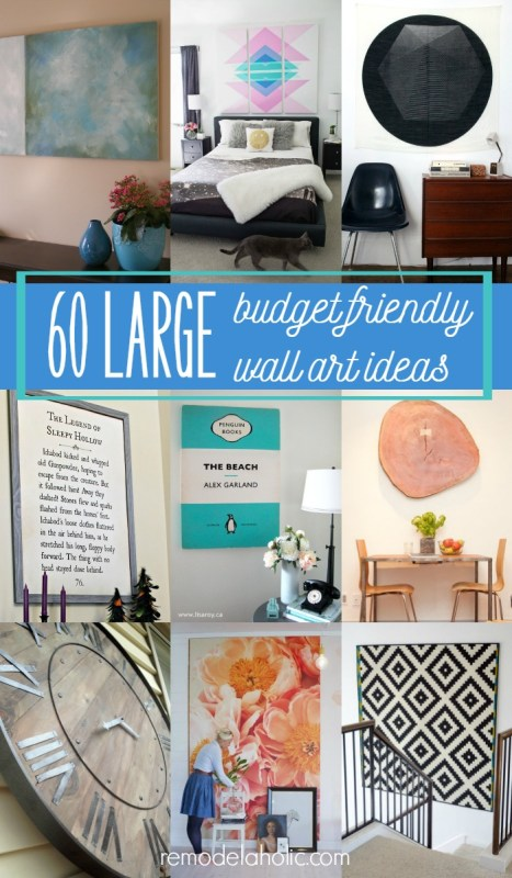 60 budget-friendly ideas for high-impact large wall art you can DIY